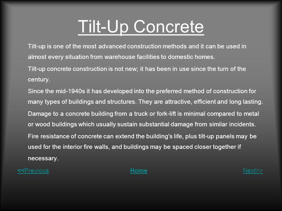 Tilt-Up Concrete
