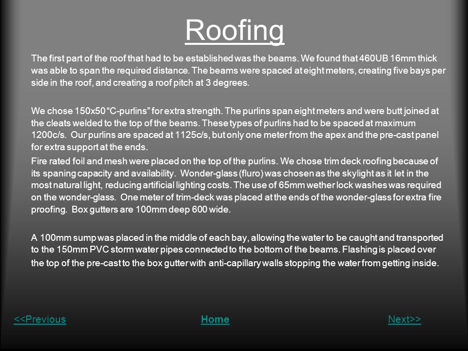 Roofing <<Previous Home Next>>