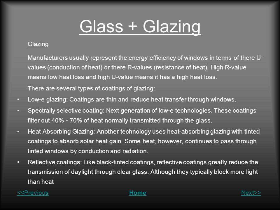 Glass + Glazing Glazing