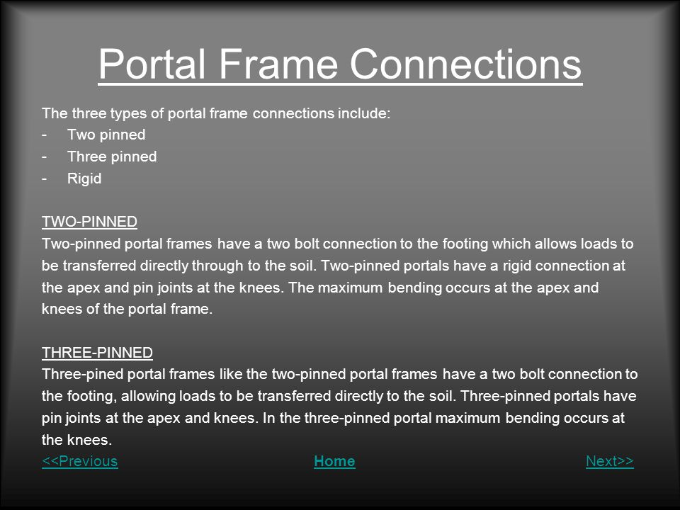 Portal Frame Connections