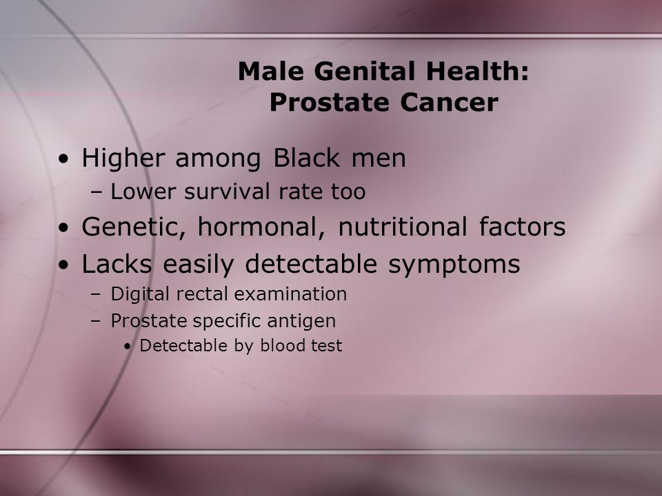 Male Genital Health: Prostate Cancer