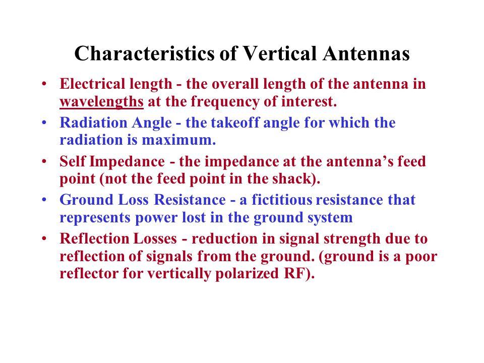 Characteristics of Vertical Antennas