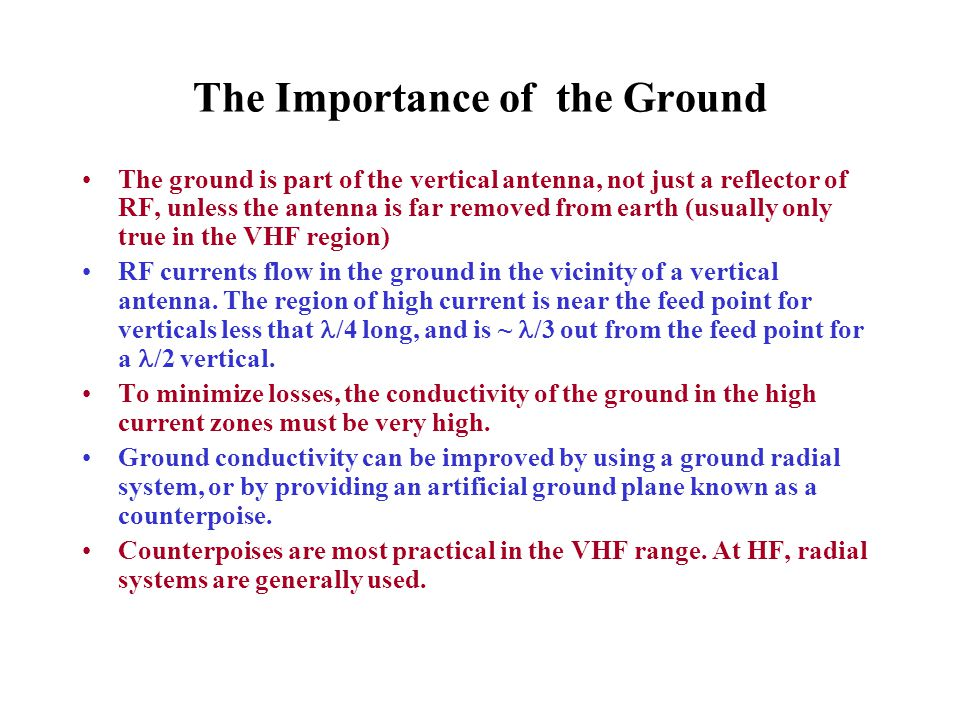 The Importance of the Ground