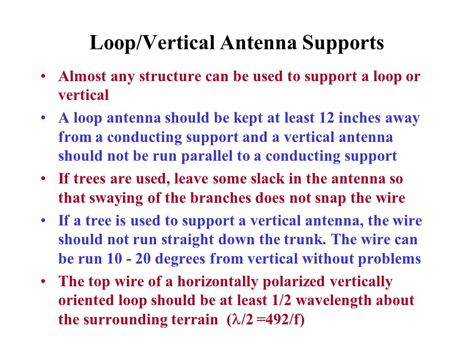 Loop/Vertical Antenna Supports