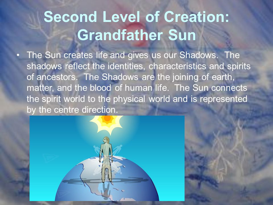 Second Level of Creation: Grandfather Sun