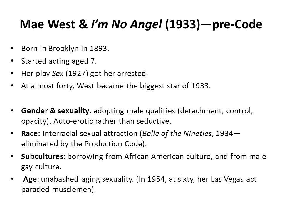 Mae West & I'm No Angel (1933)—pre-Code