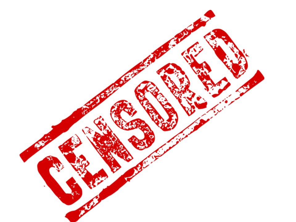 The key concept to be explored today and next week is censorship