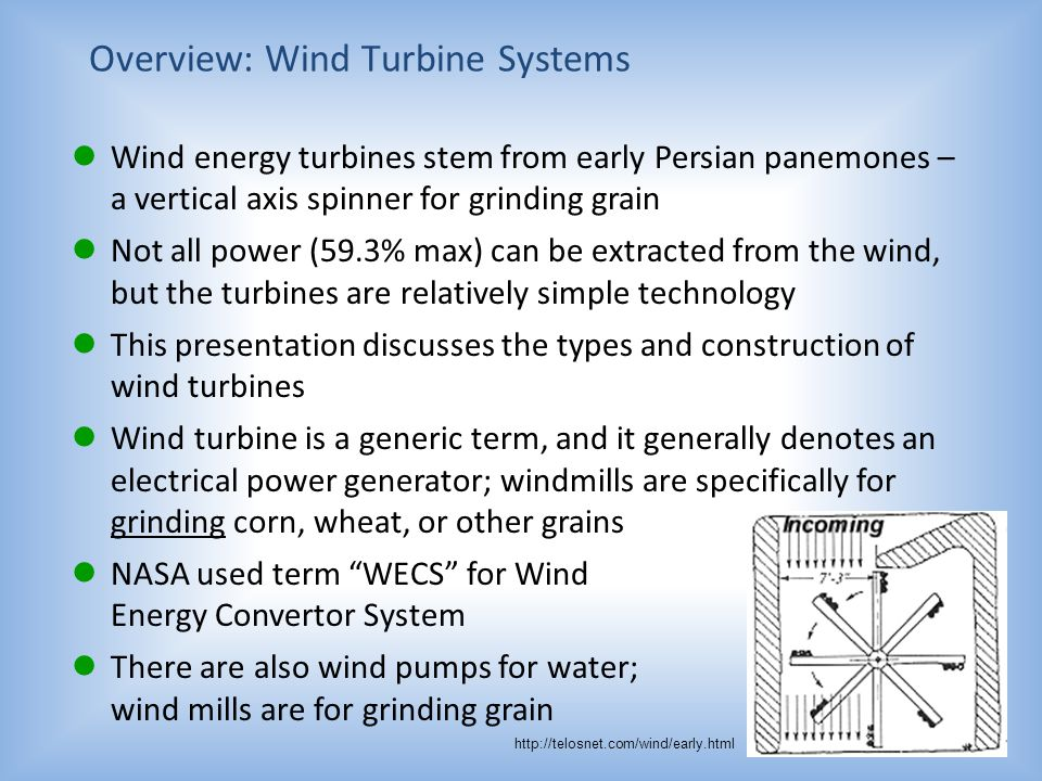 Overview: Wind Turbine Systems
