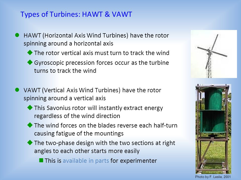 Types of Turbines: HAWT & VAWT