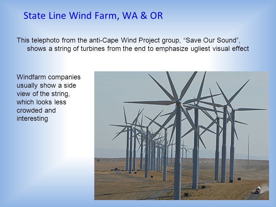 State Line Wind Farm, WA & OR