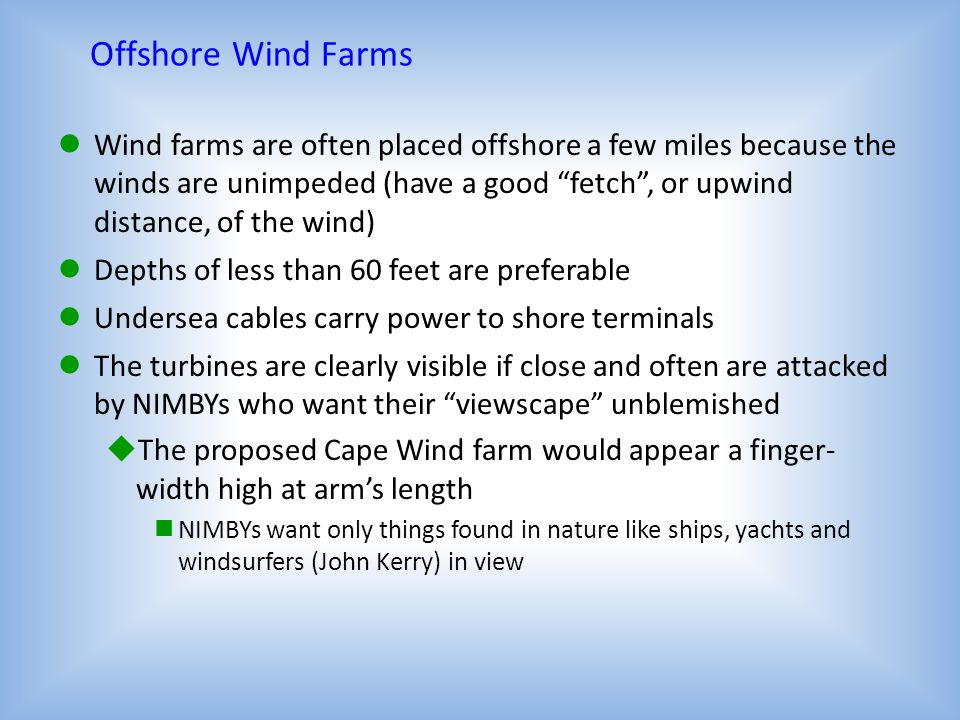 Offshore Wind Farms