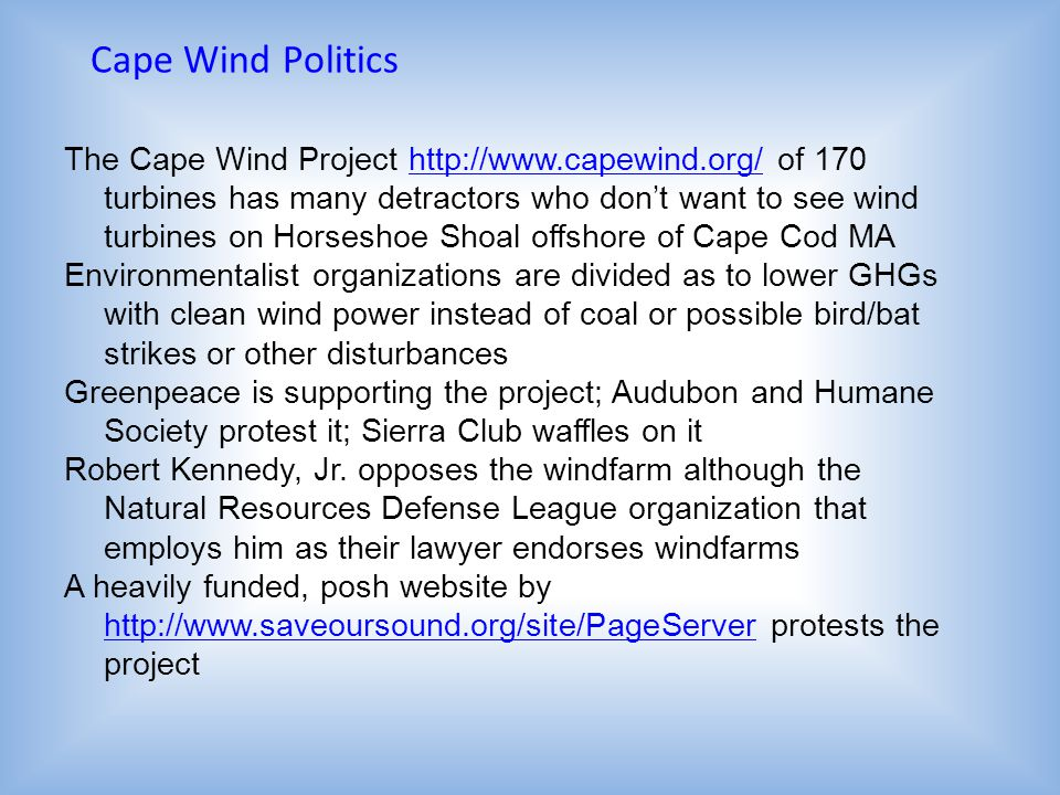 Cape Wind Politics