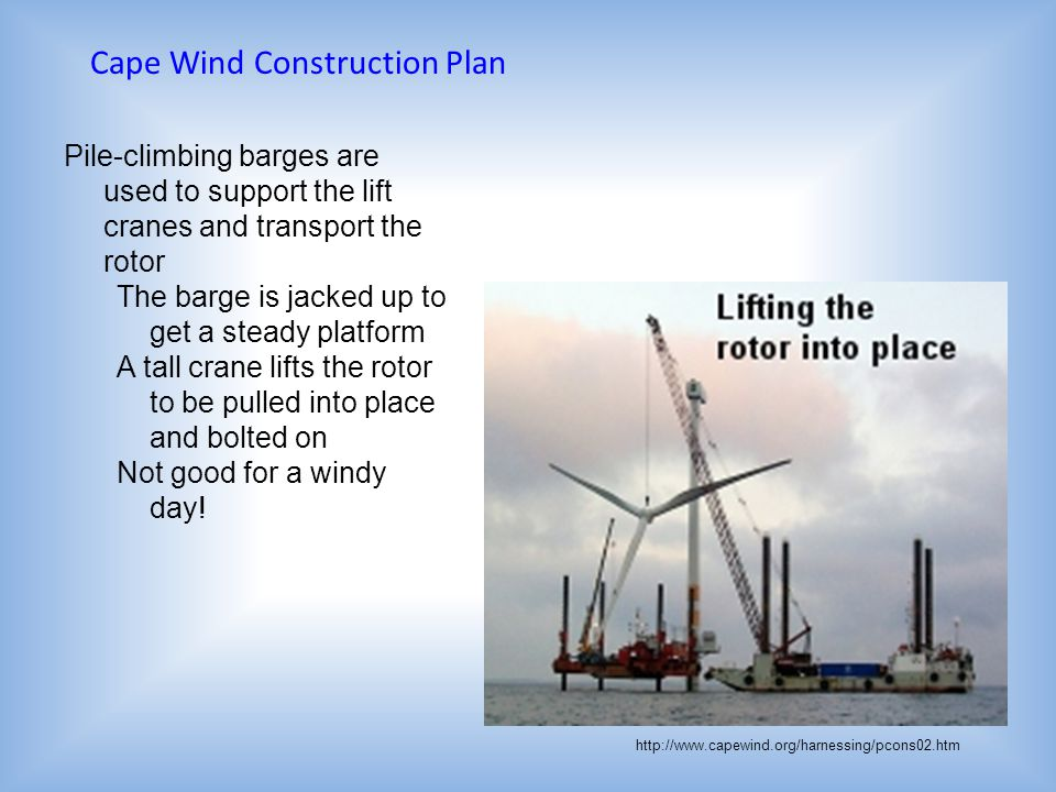 Cape Wind Construction Plan