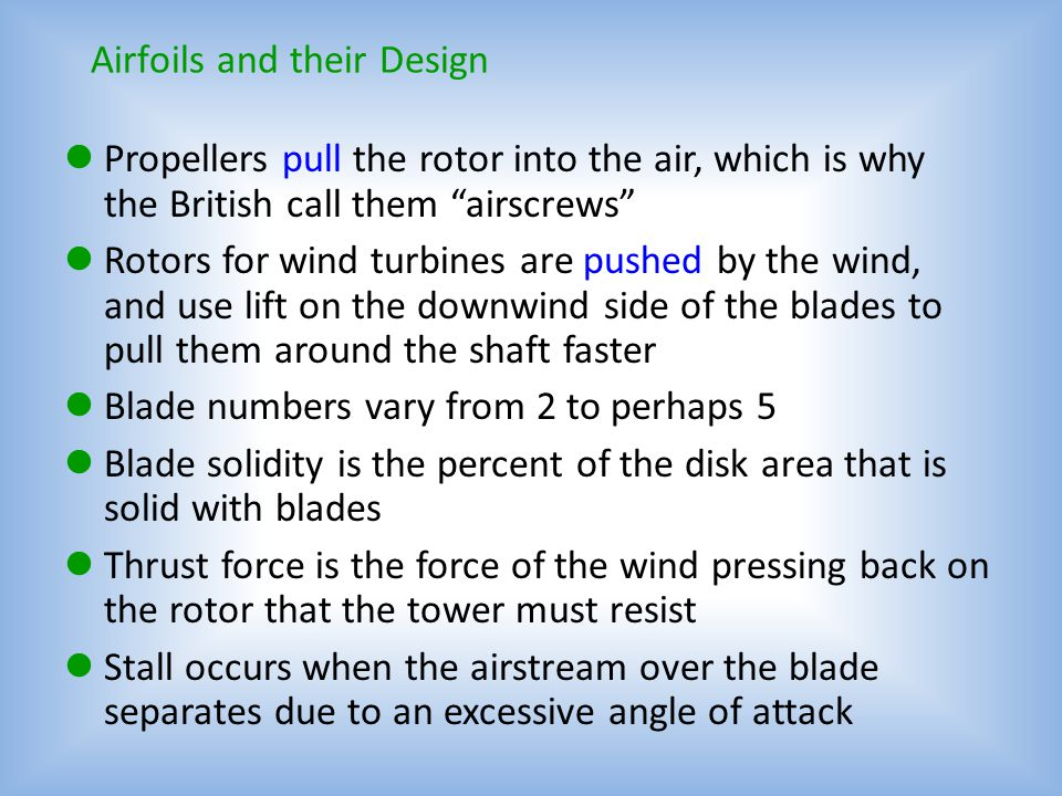 Airfoils and their Design
