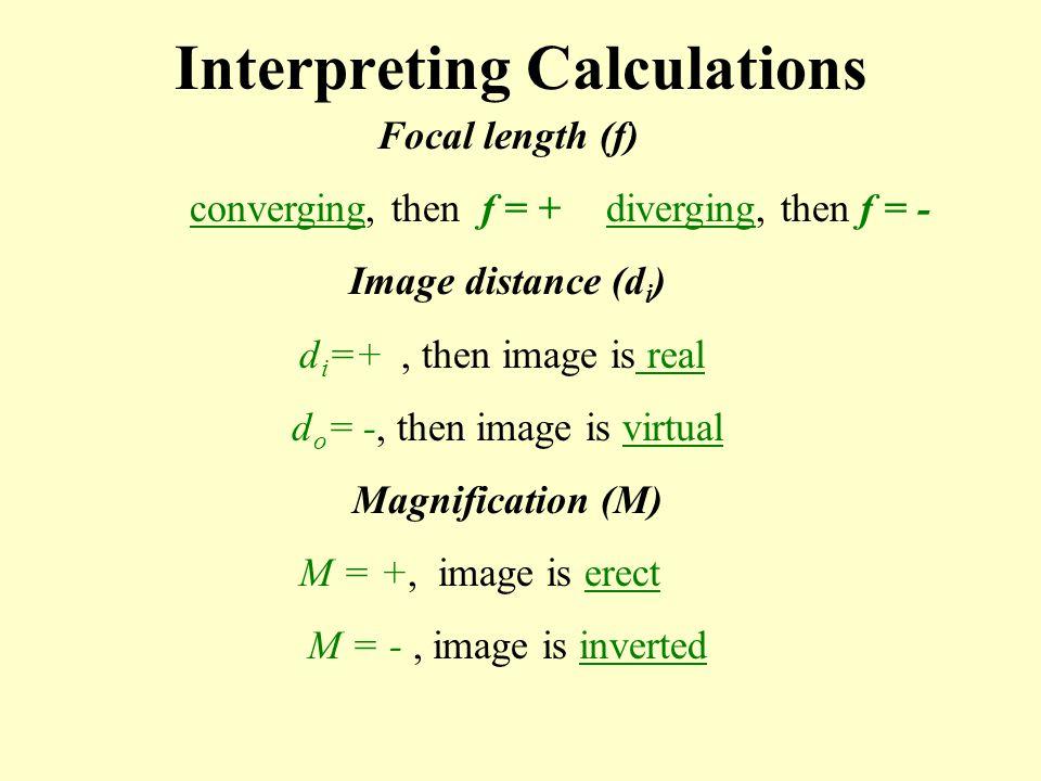 Interpreting Calculations