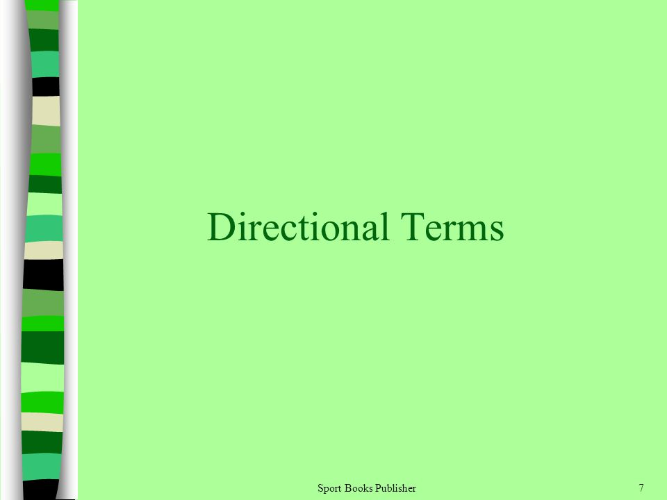 Directional Terms Sport Books Publisher