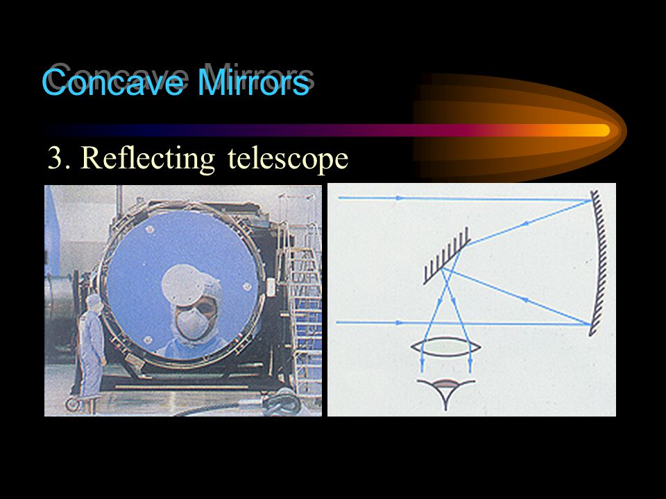 Concave Mirrors 3. Reflecting telescope