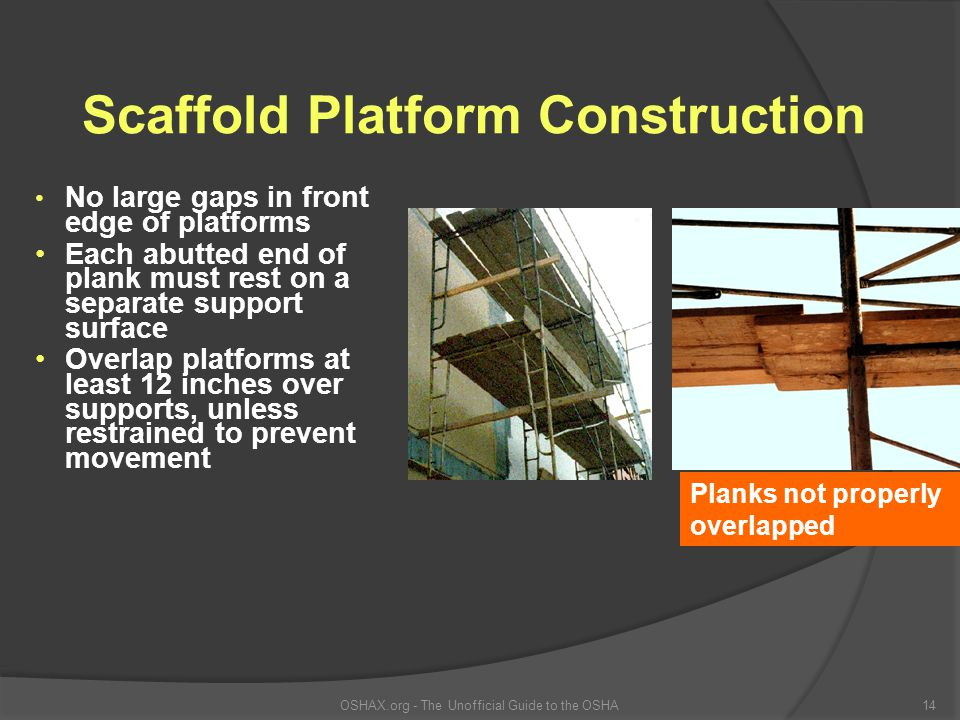 Scaffold Platform Construction