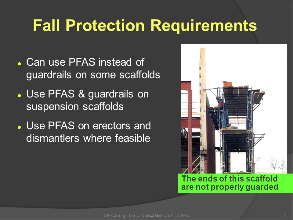 Fall Protection Requirements
