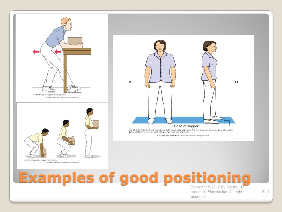 Examples of good positioning