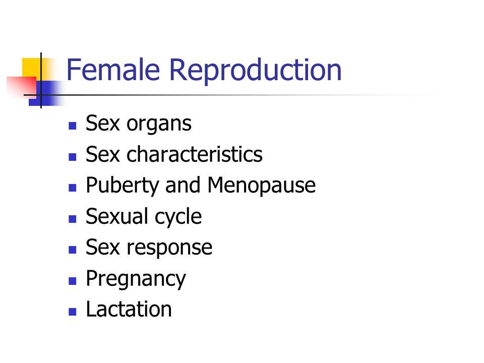 Female Reproduction Sex organs Sex characteristics