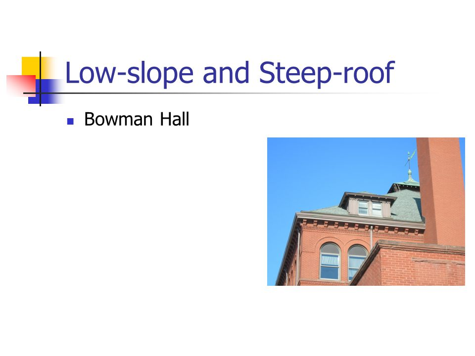 Low-slope and Steep-roof