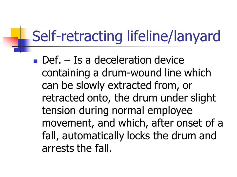 Self-retracting lifeline/lanyard
