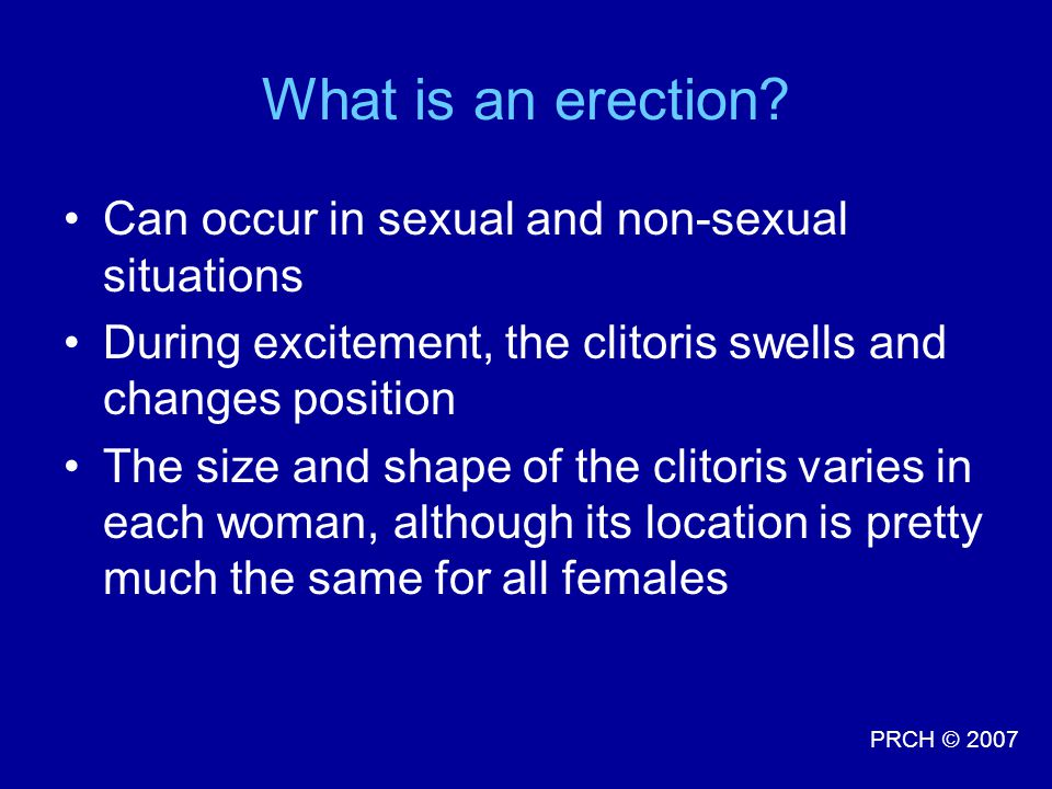 What is an erection Can occur in sexual and non-sexual situations