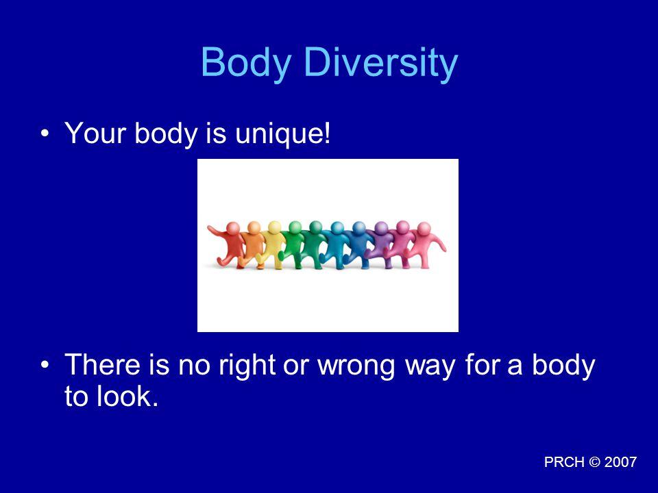 Body Diversity Your body is unique!