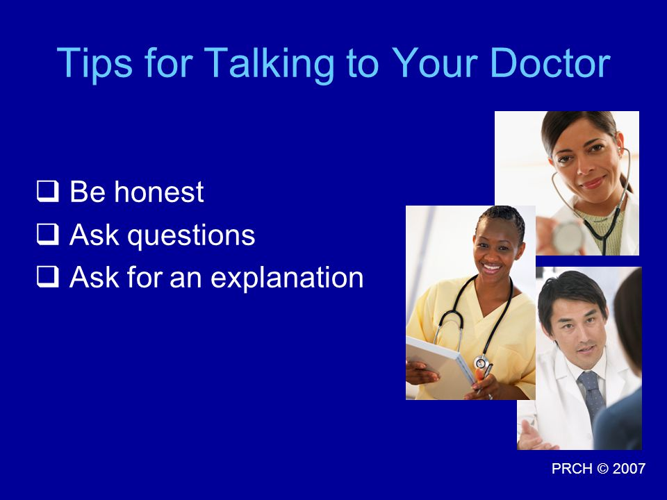 Tips for Talking to Your Doctor