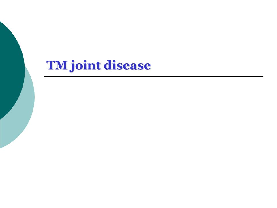TM joint disease