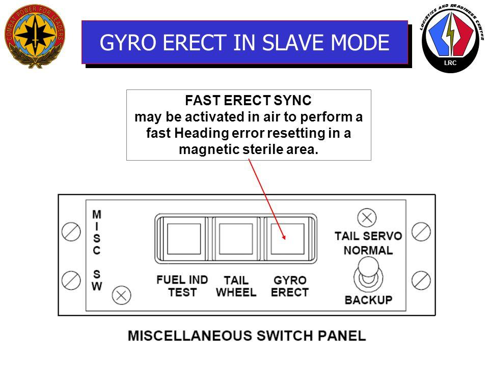 GYRO ERECT IN SLAVE MODE