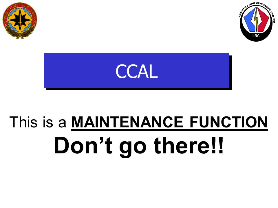 This is a MAINTENANCE FUNCTION