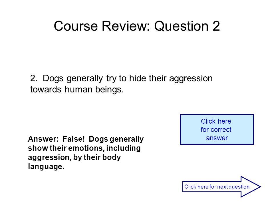 Course Review: Question 2