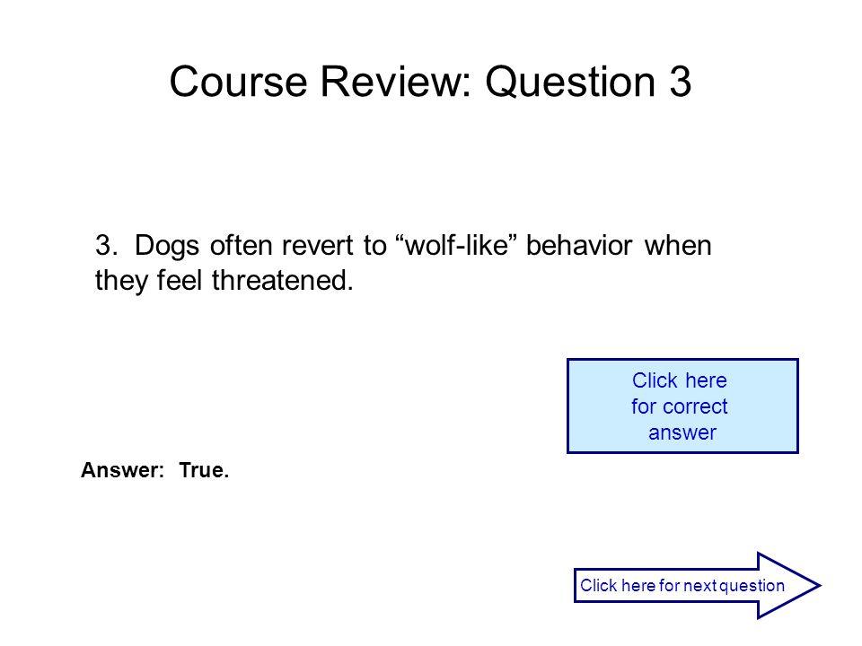 Course Review: Question 3