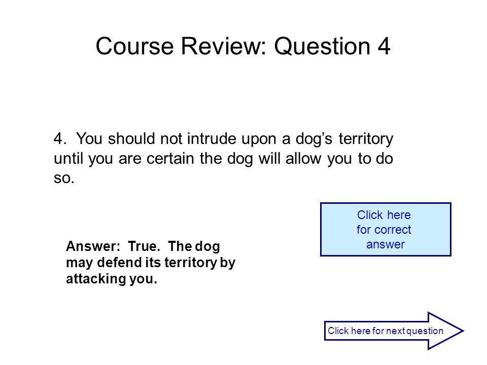 Course Review: Question 4