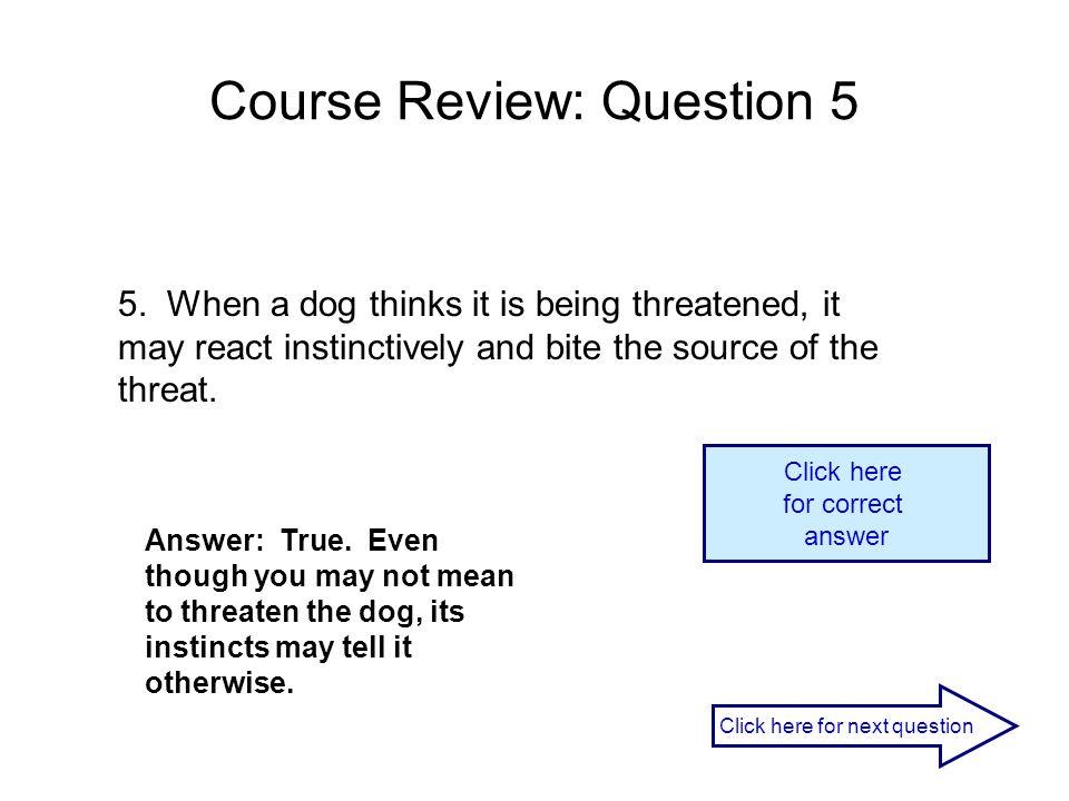 Course Review: Question 5