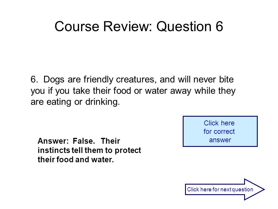 Course Review: Question 6