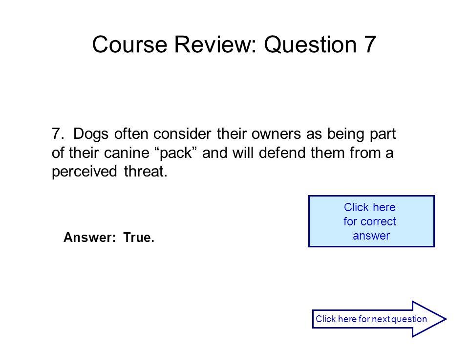Course Review: Question 7