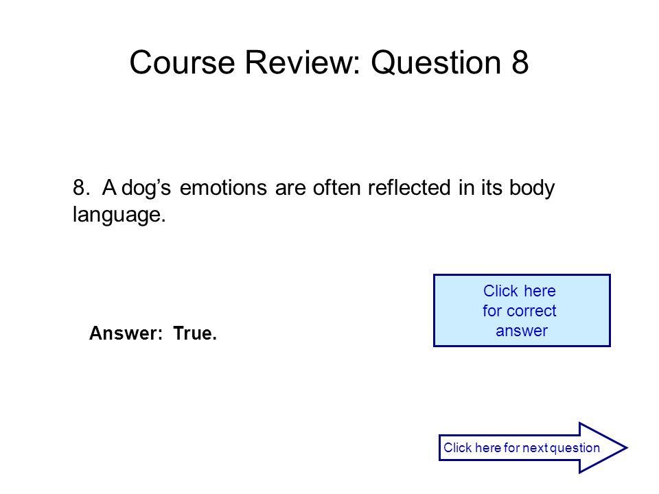 Course Review: Question 8
