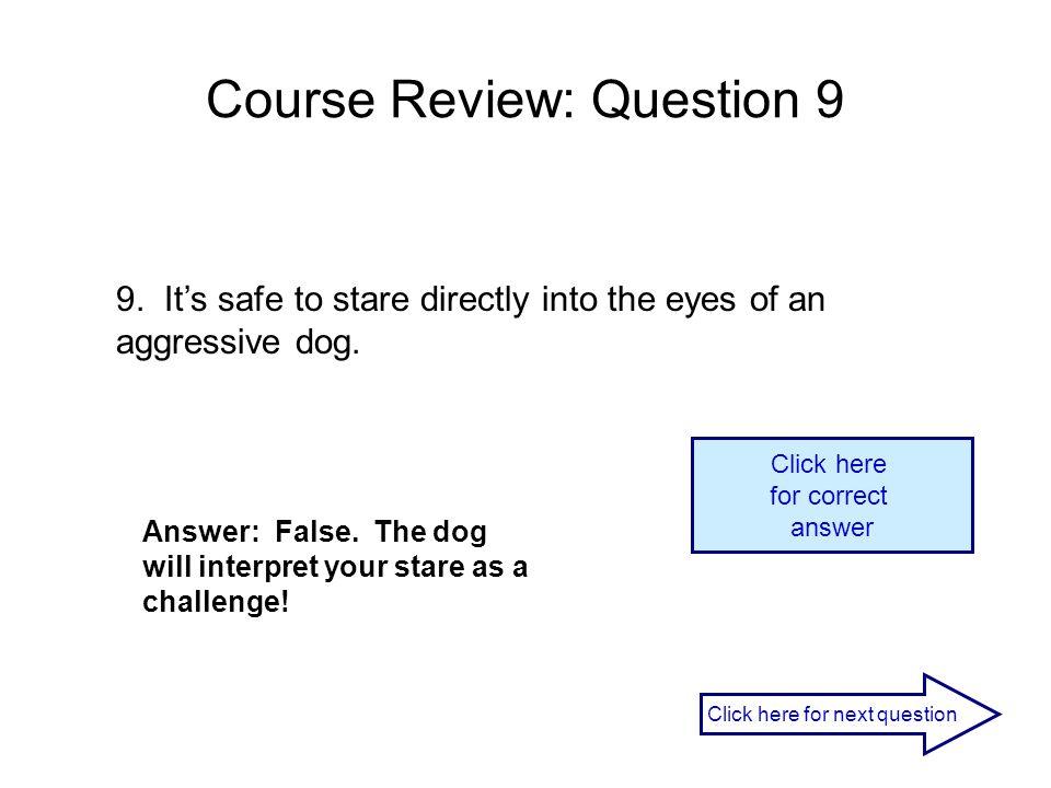Course Review: Question 9