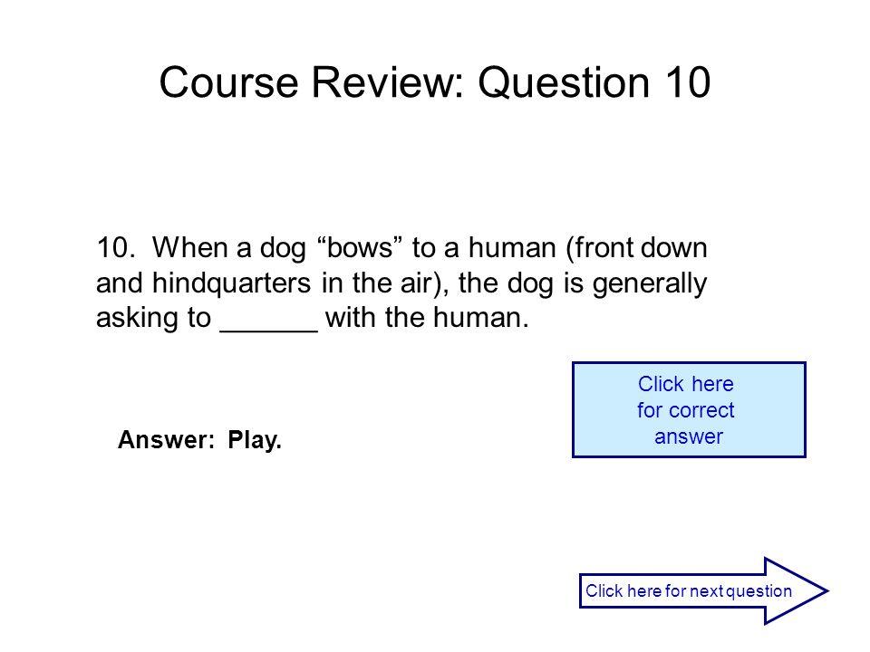 Course Review: Question 10