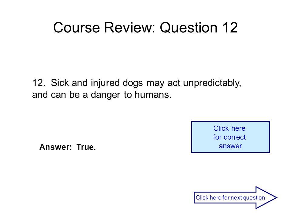 Course Review: Question 12