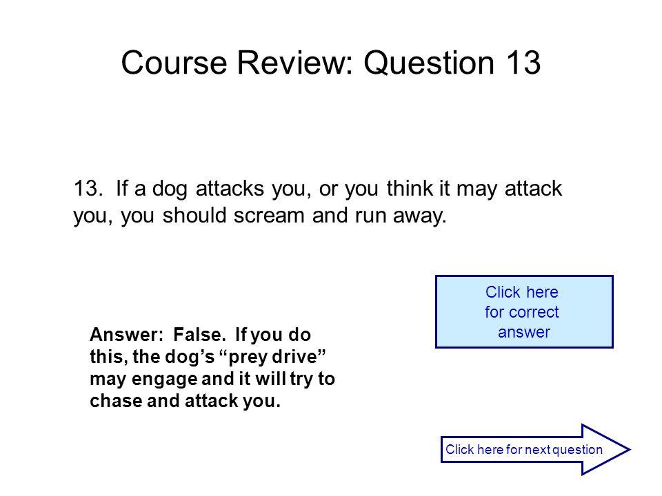 Course Review: Question 13