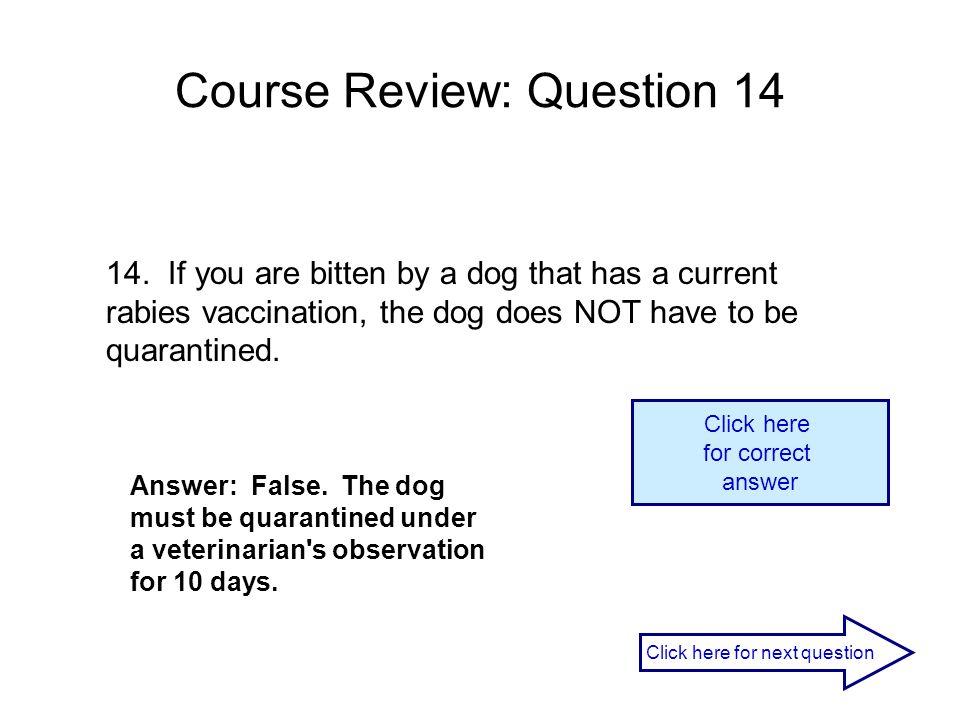 Course Review: Question 14