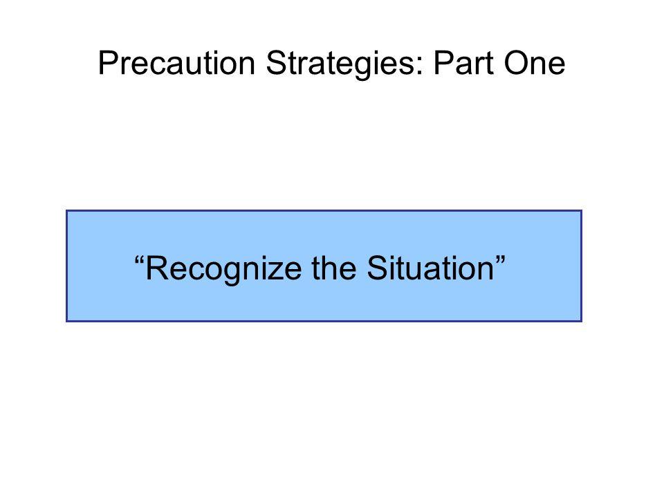 Precaution Strategies: Part One