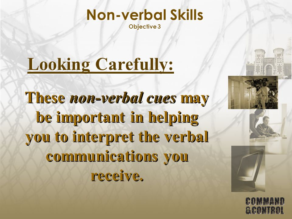 Non-verbal Skills Objective 3