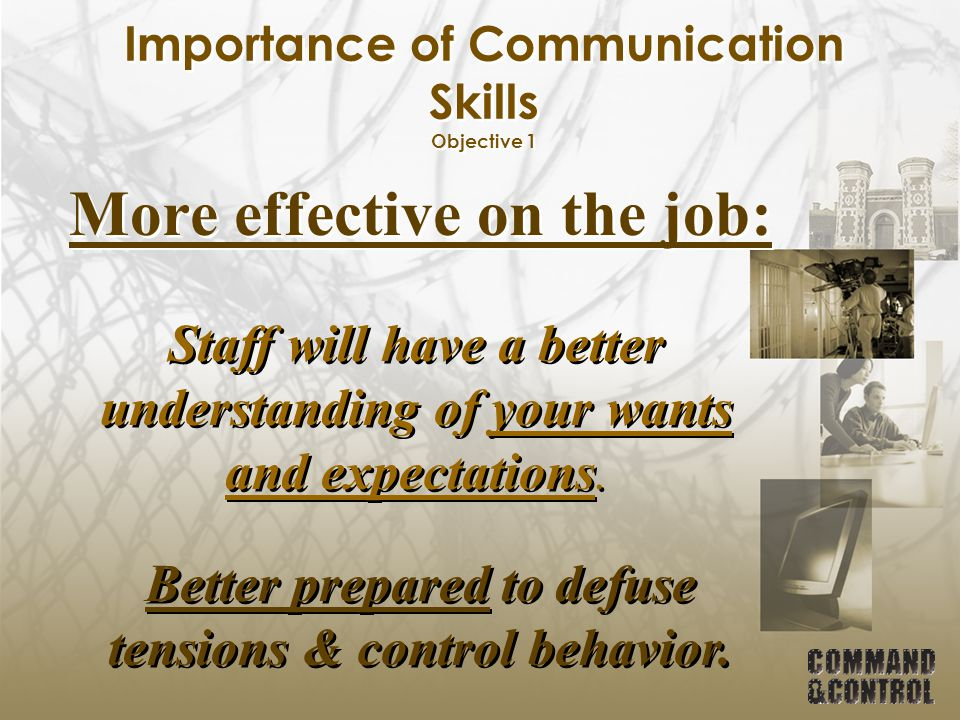 Importance of Communication Skills Objective 1