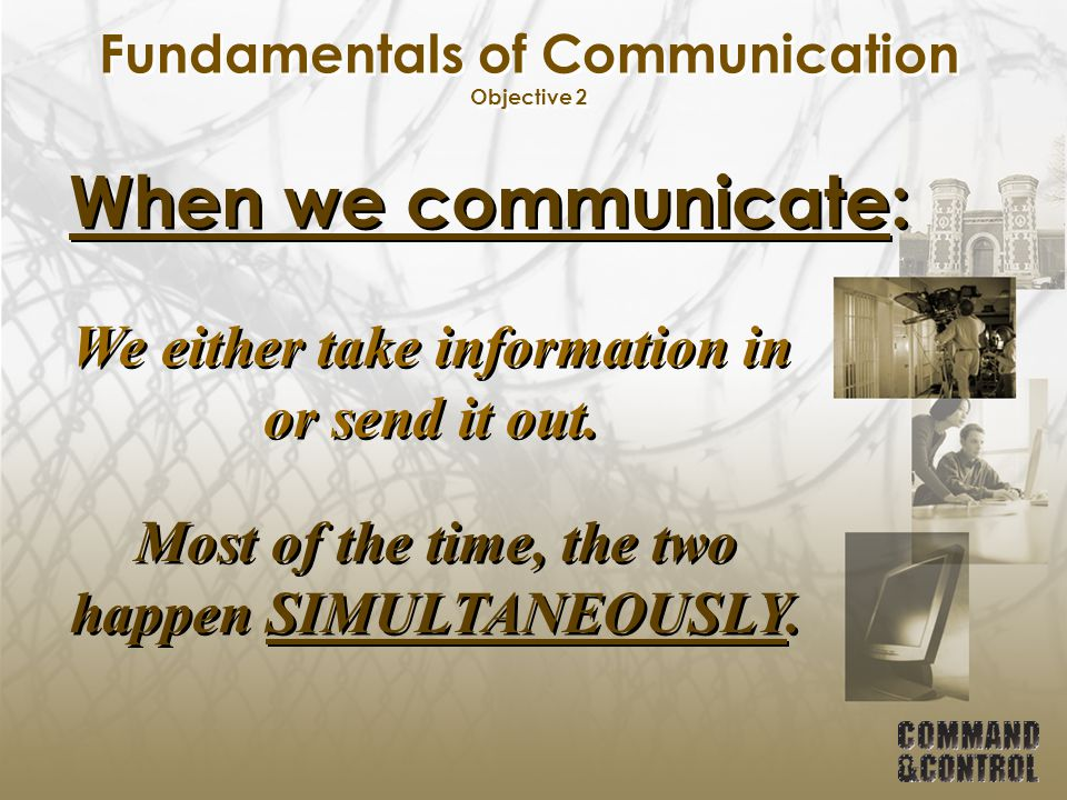 Fundamentals of Communication Objective 2