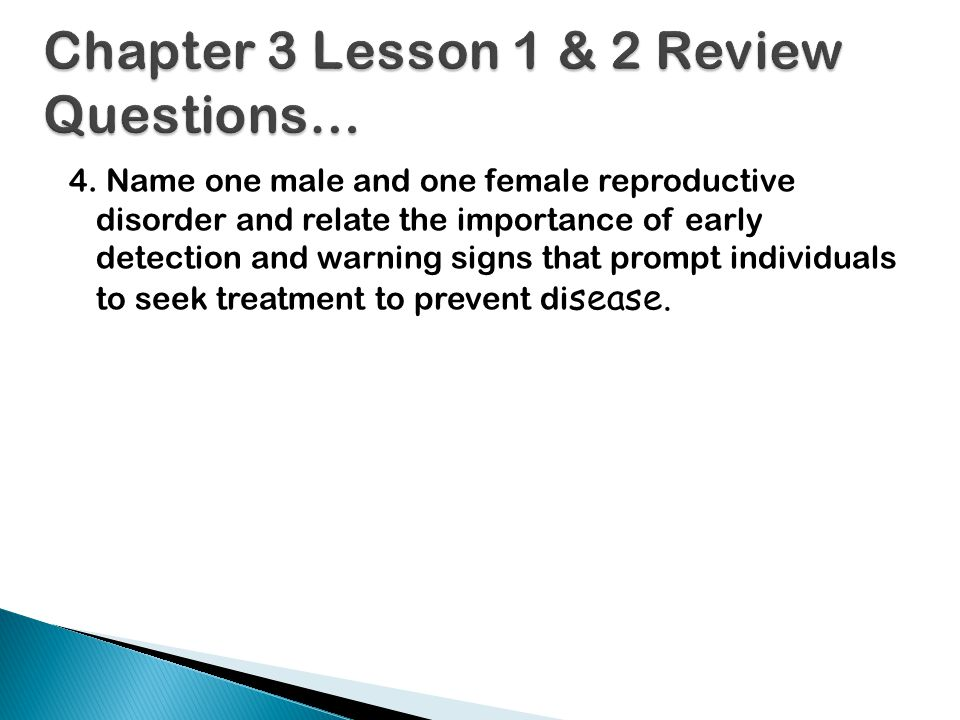 Chapter 3 Lesson 1 & 2 Review Questions…